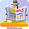 Periodicals Newspapers Magazines Vector Clip Art picture