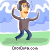 Vector Clip Art image  of a Men