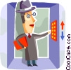 Vector Clip Art graphic  of a Elevators