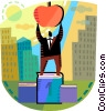 Vector Clip Art image  of an Accomplishment