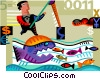 Fishing for Prospects Vector Clipart illustration