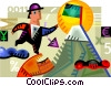 Reaching the Summit Vector Clipart graphic
