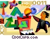 Vector Clip Art image  of a Recycle Machine
