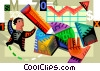 Charting Success Vector Clipart illustration