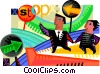 Assorted Metaphors Vector Clipart image