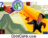 Vector Clip Art graphic  of a Investment and Stock Market