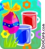 painted Easter egg Vector Clip Art picture