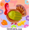 Vector Clipart graphic  of a Turkeys