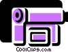Vector Clipart image  of a Video Cameras