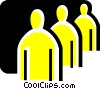 People as Symbols Vector Clipart illustration