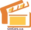 Clapper Boards Vector Clipart illustration