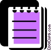 Vector Clip Art graphic  of a Notepad