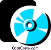 Vector Clipart graphic  of a Compact Discs  CD's