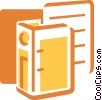 Vector Clipart illustration  of a 3-Ring Binders