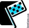 Vector Clip Art graphic  of an Auto Racing