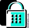 Vector Clipart illustration  of a Keys and Locks