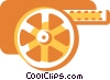 Vector Clipart image  of a Film Strips and Post