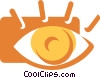 Vector Clipart illustration  of a Eyes