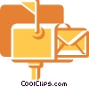 Mailboxes Vector Clipart illustration