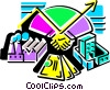Vector Clipart graphic  of an Assorted Metaphors
