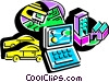 Vector Clipart graphic  of a Technology Tools