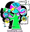 Investment and Stock Market Vector Clipart picture