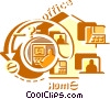 Working at Home Vector Clipart picture