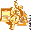 Vector Clipart picture  of a Medical Research
