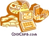 Technology Tools Vector Clipart illustration