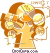Investment and Stock Market Vector Clipart image