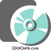 Vector Clip Art image  of a Compact Discs  CD's