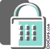 Vector Clip Art graphic  of a Keys and Locks
