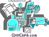 Vector Clipart picture  of a Online Transactions