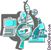 Medical Research Vector Clipart graphic