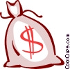 Vector Clip Art image  of a Money Bags