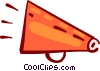 Megaphones Vector Clip Art graphic
