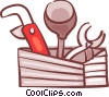 Vector Clipart illustration  of a Pipes and tools