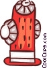 Fire Hydrants Vector Clip Art graphic