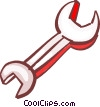Vector Clipart illustration  of a Wrenches