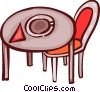 Tables and Counters Vector Clipart image