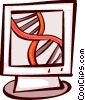 Vector Clipart picture  of a DNA