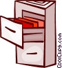Vector Clipart picture  of a Filing Cabinets