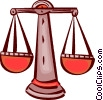 Scales of Justice Vector Clipart image