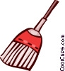 Vector Clip Art graphic  of a Brooms