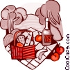 Picnics and Barbecues Vector Clipart graphic
