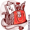 Vector Clipart illustration  of a Doctor's Bag