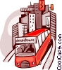 Vector Clip Art graphic  of a Urban Transportation