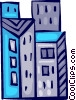 Vector Clipart graphic  of a Office Buildings
