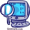 Vector Clipart graphic  of a Monitors