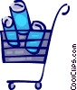 Vector Clipart illustration  of a Shopping Carts